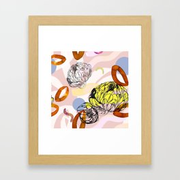 Yellow spring garden Framed Art Print