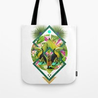 kris tate Tote Bags featuring ▲ TROPICANA ▲ by KRIS TATE x BOHEMIAN BLAST by ▲ BOHEMIAN BLAST ▲