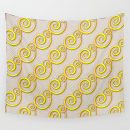 Golden swirls Wall Tapestry