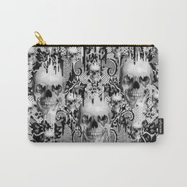 Victorian gothic lace skull pattern Carry-All Pouch