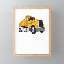 Nice Design Idea for truck drivers and female drivers Framed Mini Art Print