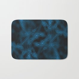 Blue fantasy pattern Bath Mat