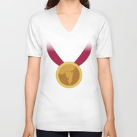 hercules V-neck T-shirts featuring Hercules | Fairy Tales by Gabriele Omar Lakhal