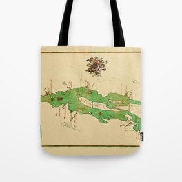 Map Of Lake Champlain 1740 Tote Bag