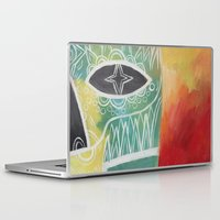 calavera Laptop & iPad Skins featuring Calavera 2 by Santiago Uceda