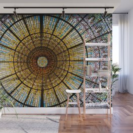 Barcelona glass window stained glass Wall Mural