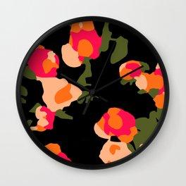 Tulips at Night Wall Clock