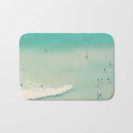 beach summer waves Bath Mat