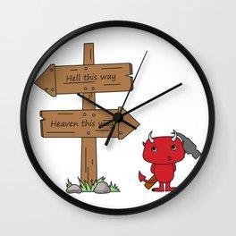 That little devil Wall Clock