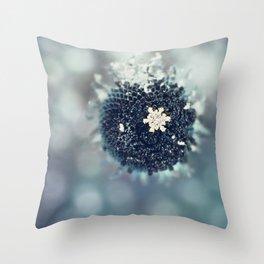 Snow Queen's Brooch Throw Pillow