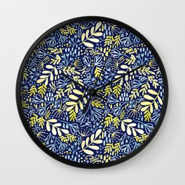 Garden at Dusk - Hand painted pattern Wall Clock