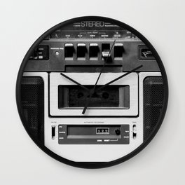cassette recorder / audio player - 80s radio Wall Clock