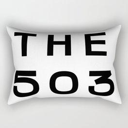 503 Oregon Area Code Typography Rectangular Pillow