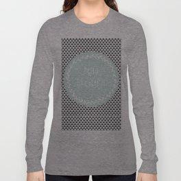 Hello Beautiful, Geometric, Quote, Modern, Home Decor Long Sleeve T-shirt