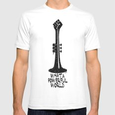 WHAT A POWERFULL WORLD Mens Fitted Tee White MEDIUM
