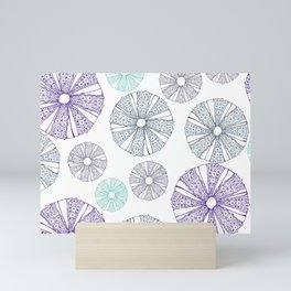 white sea urchin Mini Art Print