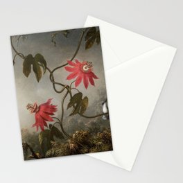 Passion Flowers With Hummingbirds 1883 By Martin Johnson Heade | Reproduction Stationery Cards