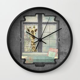 Bay Window Giraffe Wall Clock