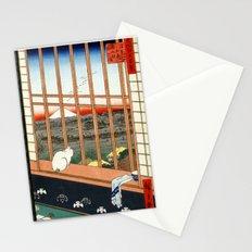 Hiroshige Asakusa Ricefields and Torinomachi Festival Stationery Cards