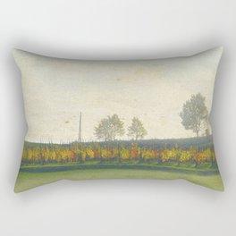 Autumn paints its colors bright Rectangular Pillow