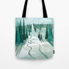 Winter Slope Tote Bag