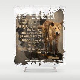 DINGO IN THE WILD Shower Curtain