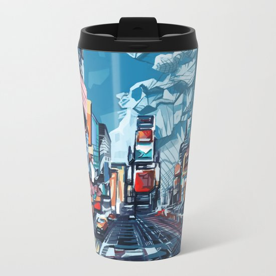 new york city-times square urban art Metal Travel Mug