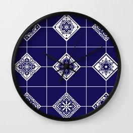 Talavera Mexican Tile – Porcelain Palette Wall Clock