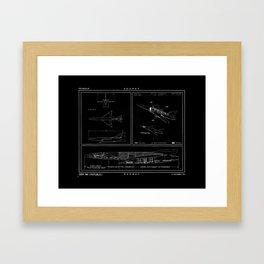 Republic AP 57 Inverted Schematic Framed Art Print