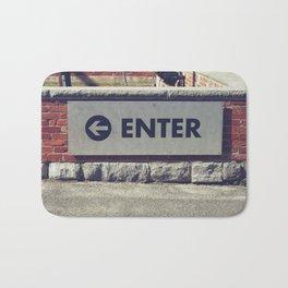 Enter Sign Bath Mat