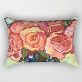 Camellias and Roses Rectangular Pillow