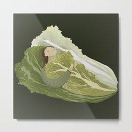 Bed of Lettuce Metal Print