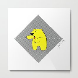 YELLOWBEAR Metal Print