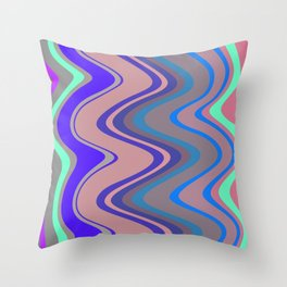 Distorted stripes in colour 5 Throw Pillow