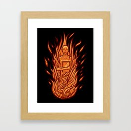 fahrenheit 451 - bradbury red variant Framed Art Print