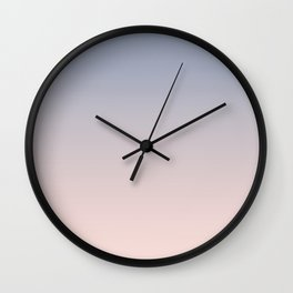 Light blue and pink gradient, Ombre. Wall Clock