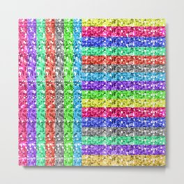 Pixelated colors Metal Print