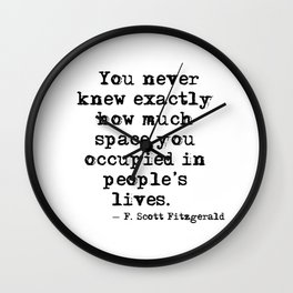 How much space you occupied - Fitzgerald Wall Clock