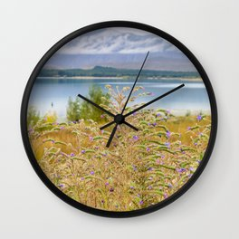 Field of Lupines Wall Clock