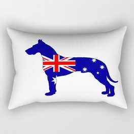 Australian Flag - Great Dane Rectangular Pillow