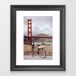 Bike Ride in San Francisco Framed Art Print