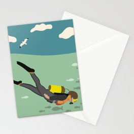 Going Deep Stationery Cards