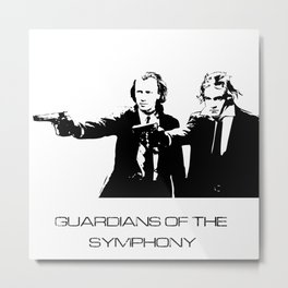 Brahms & Beethoven Guardians of the Symphony Metal Print