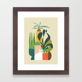 Still life with cat Framed Art Print