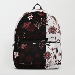 TWO TONE FLORAL PANELS Backpack