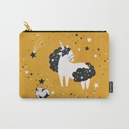 Stellar Unicorn with Heart Crystal Carry-All Pouch