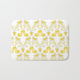 Tulip And Carnation-Yellow Bath Mat
