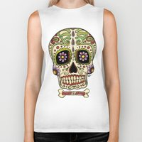 mexican Biker Tanks featuring Mexican Skull !!! by Adrian Filmore