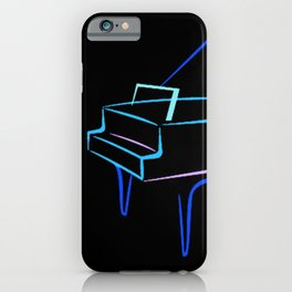 Blue Abstract Grand Piano iPhone Case