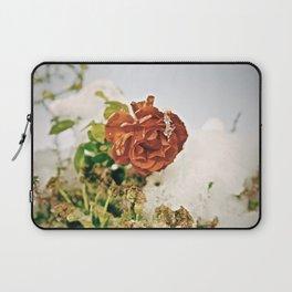 Retro Winter Rose Laptop Sleeve